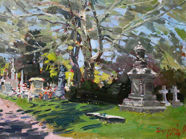 Monuments Painting - Oakwood Cemetery by Ylli Haruni