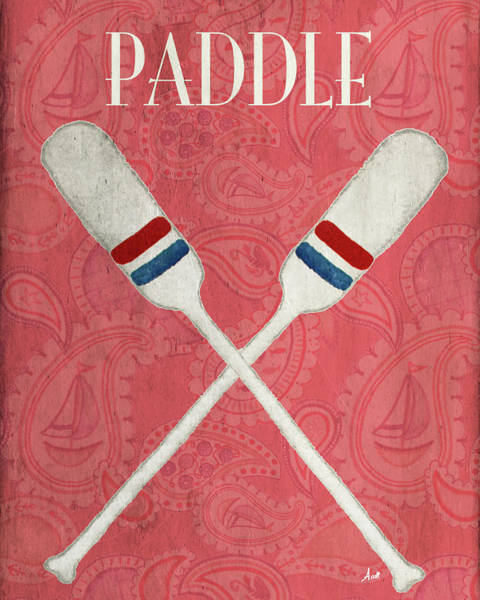 Paddling Painting - Oars And Anchors Poster by Andi Metz