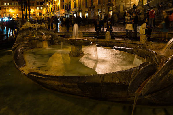 Photograph - Oasis Of Calm Water In The Middle Of The Hustle And Bustle Of The Piazza by Georgia Mizuleva
