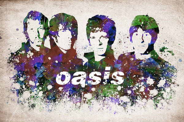 Wall Art - Drawing - Oasis Portrait by Aged Pixel