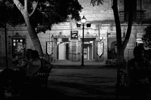 Photograph - Oaxaca Zocalo At Night1 by Lee Santa
