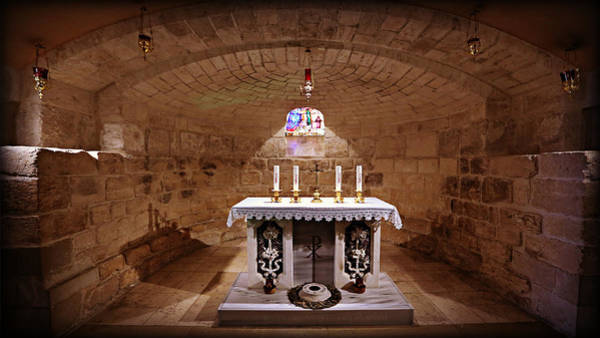 Holy Land Photograph - Obedience - The Church Of Saint Joseph's Carpentry by Stephen Stookey