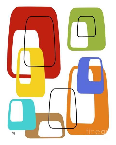 Digital Art - Oblongs On White 2 by Donna Mibus