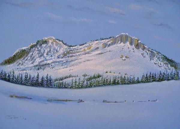 Pastel - Observation Peak by Michele Myers