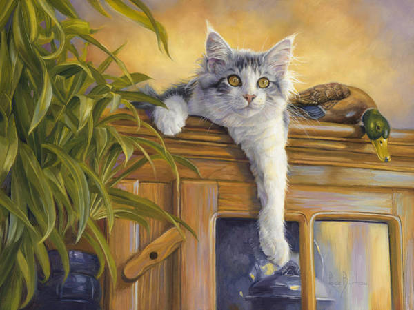 Painting - Observation Post by Lucie Bilodeau