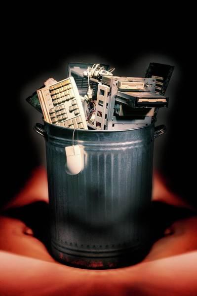 Rubbish Bin Photograph - Obsolete Hardware by Mark Sykes
