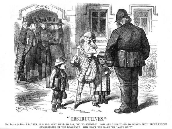 Schooling Drawing - 'obstructives' Comment On The Education by Mary Evans Picture Library