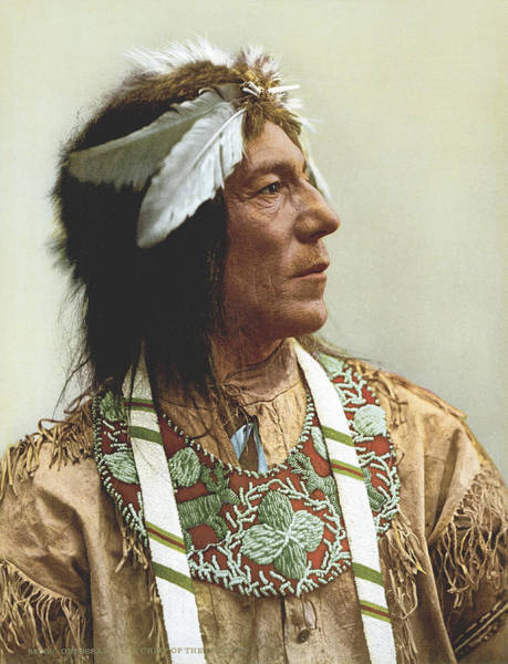 Buckskin Photograph - Obtossaway, An Ojibwa Chief by Underwood Archives