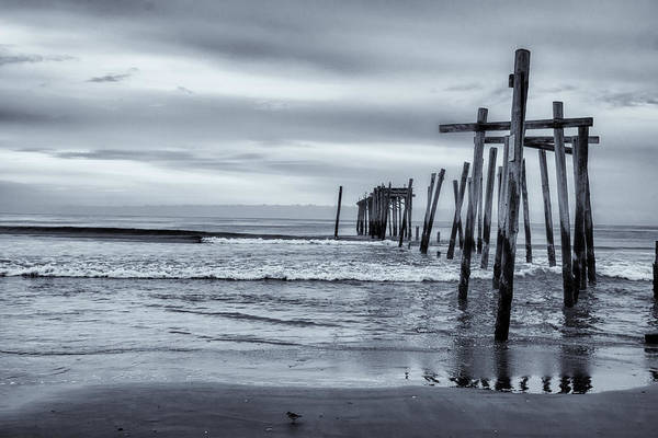 Photograph - Oc Pier In Black And White by Tom Singleton