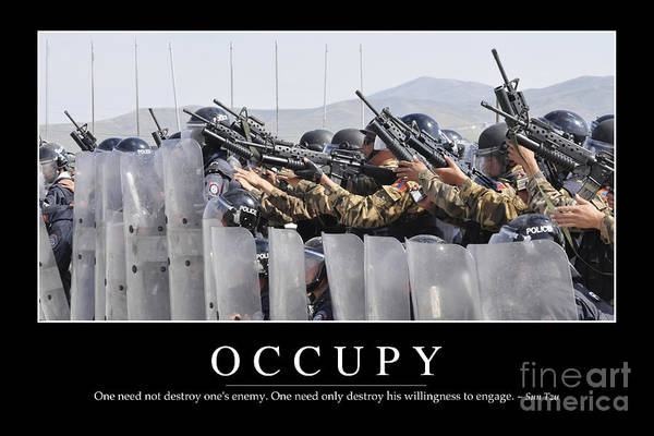 Bracing Photograph - Occupy Inspirational Quote by Stocktrek Images