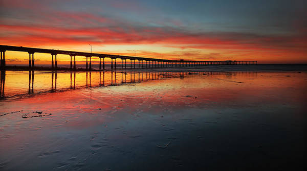 Wall Art - Photograph - Ocean Beach California Pier 3 Panorama by Larry Marshall