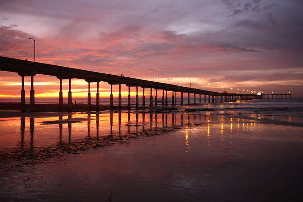 Photograph - Ocean Beach Pier At Sunset by Nathan Rupert