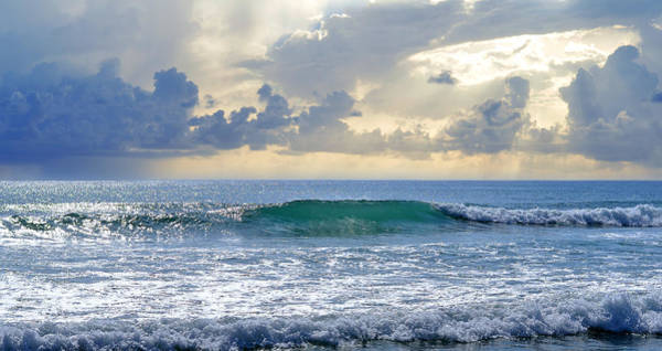 The Wave Photograph - Ocean Blue by Laura Fasulo
