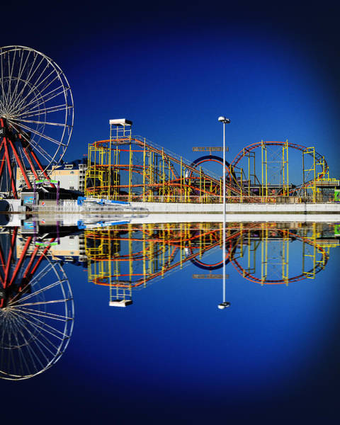Photograph - Ocean City Amusement Pier Reflections by Bill Swartwout Photography