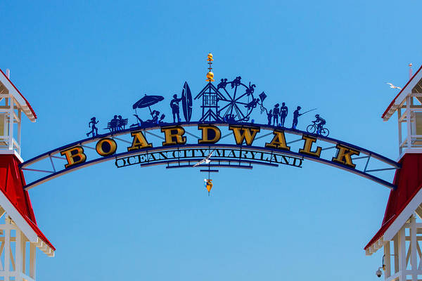Photograph - Ocean City Boardwalk Arch by Bill Swartwout Photography