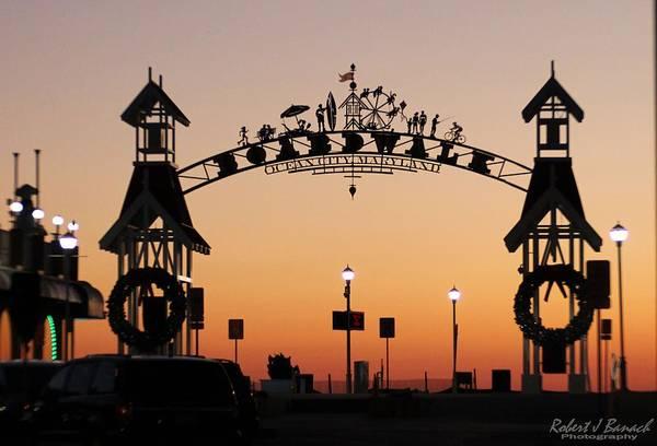 Photograph - Ocean City Boardwalk Arch by Robert Banach