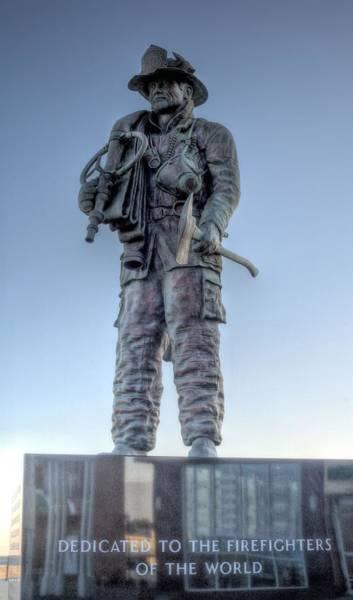 Wall Art - Photograph - Ocean City Firefighter Memorial by JC Findley