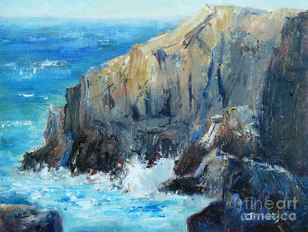 Painting - Ocean Cliffs by Carolyn Jarvis