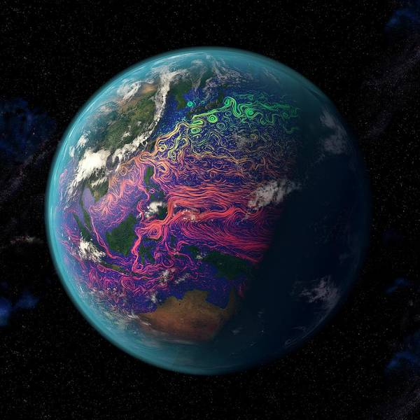 Earth Observation Wall Art - Photograph - Ocean Currents In The Coral Triangle by Karsten Schneider