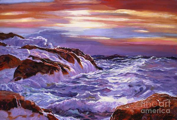 Painting - Ocean Daybreak by David Lloyd Glover