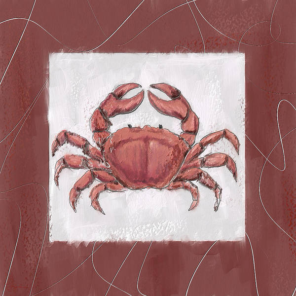 Wall Art - Painting - Ocean Finest-marsala Pantone 18-1438 by Lourry Legarde