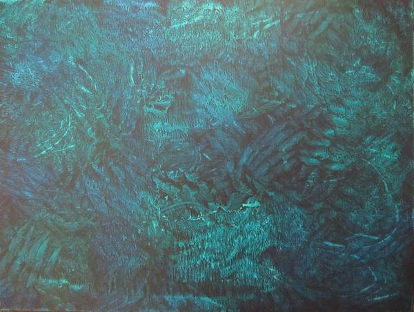 Elwood Blues Painting - Ocean Floor by Jessica D Elwood