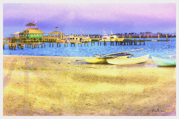 Painting - Coastal - Beach - Boats - Ocean Front Property by Barry Jones