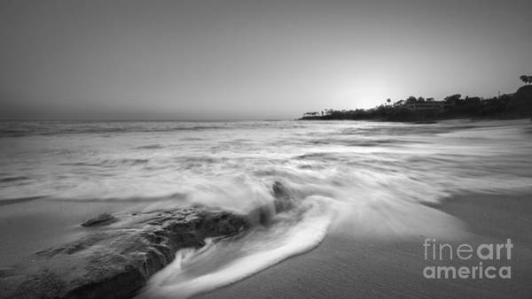 Michael Photograph - Ocean Glow Bw by Michael Ver Sprill