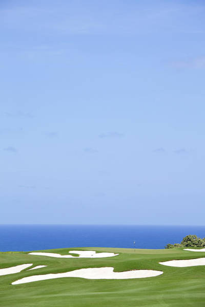 Trapped Photograph - Ocean Golf Green by Imaginegolf