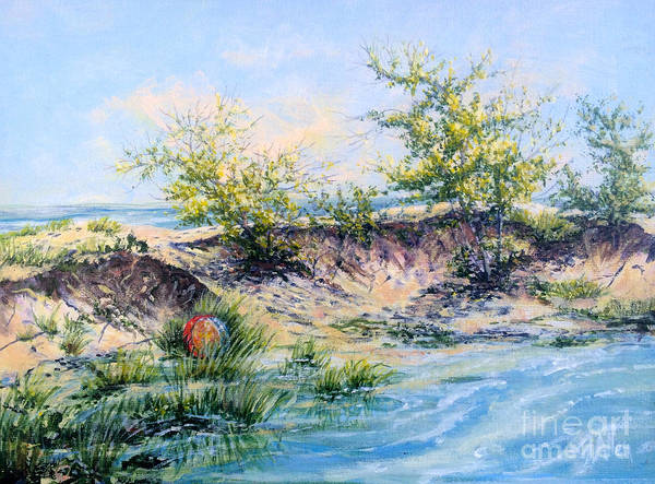 Painting - Ocean Inlet by Gail Allen