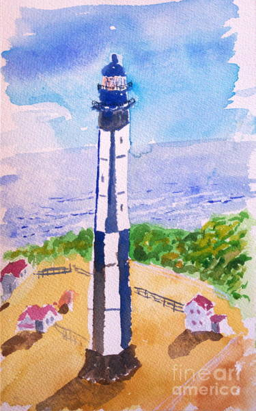 Painting - Ocean Lighthouse by Walt Brodis