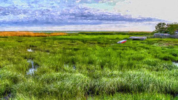 Painting - Ocean Marsh by Rick Mosher