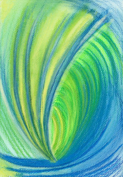Mixed Colors Drawing - Ocean Of Dark And Light by Kelly K H B
