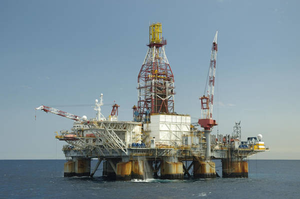 Photograph - Ocean Oil Rig by Bradford Martin