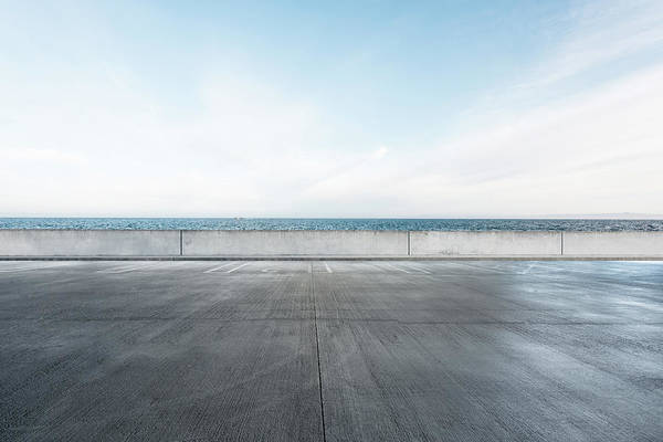 Parking Lot Photograph - Ocean Parking Lot by Yubo