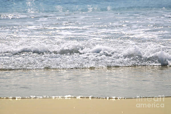 Sparkle Wall Art - Photograph - Ocean Shore With Sparkling Waves by Elena Elisseeva