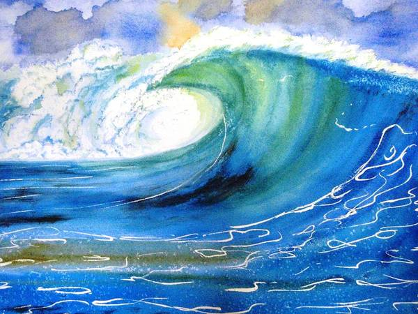 Painting - Ocean Spray by Carlin Blahnik CarlinArtWatercolor