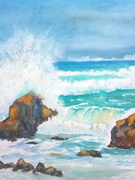 Painting - Ocean Storm Sea Squall    by Carlin Blahnik CarlinArtWatercolor