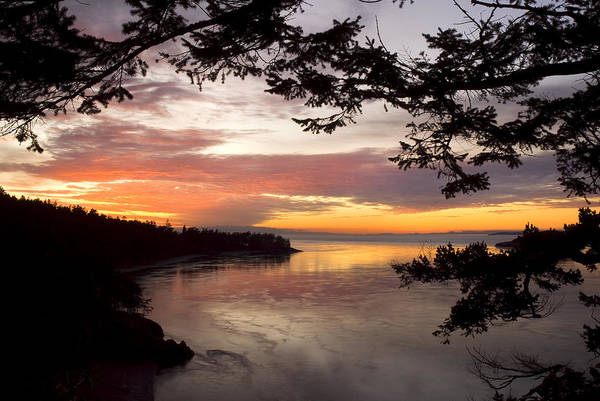 Photograph - Ocean Sunset Deception Pass by Yulia Kazansky