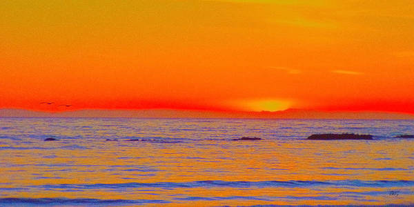 Photograph - Ocean Sunset In Orange And Blue by Ben and Raisa Gertsberg