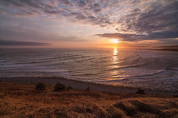 Wall Art - Photograph - Blazing Orange Ocean Sunset Off The Hill by Trevor Nicodemo