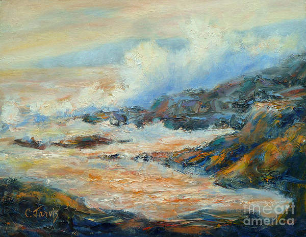 Painting - Ocean Surf by Carolyn Jarvis