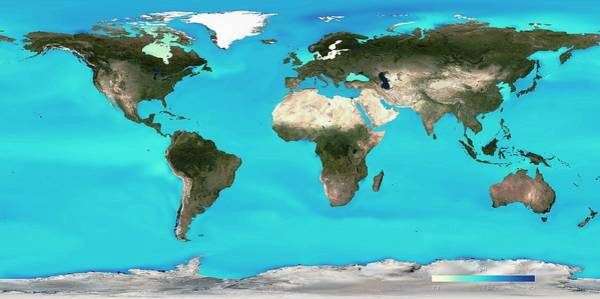 Earth Observation Wall Art - Photograph - Ocean Surface Ph by Noaa