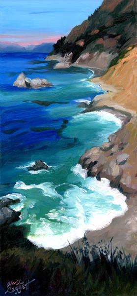 Big Sur Wall Art - Painting - Ocean View At Big Sur by Alice Leggett