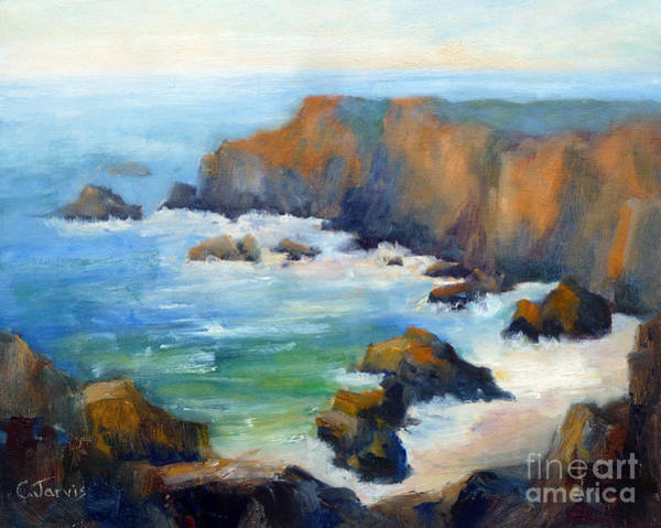 Painting - Schoolhouse Beach Overlook by Carolyn Jarvis