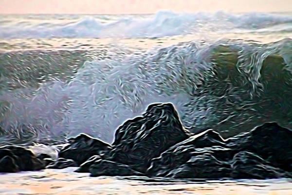 Mixed Media - Ocean Wave by Pamela Walton