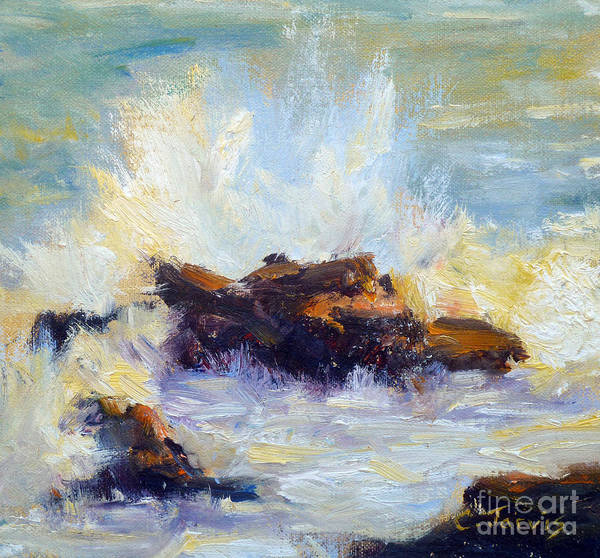 Painting - Ocean Wave Square by Carolyn Jarvis