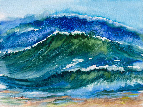 Wave Breaking Painting - Ocean Waves by Patricia Allingham Carlson