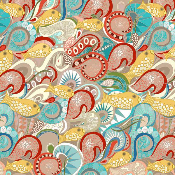 Wall Art - Drawing - Ocean Waves by MGL Meiklejohn Graphics Licensing