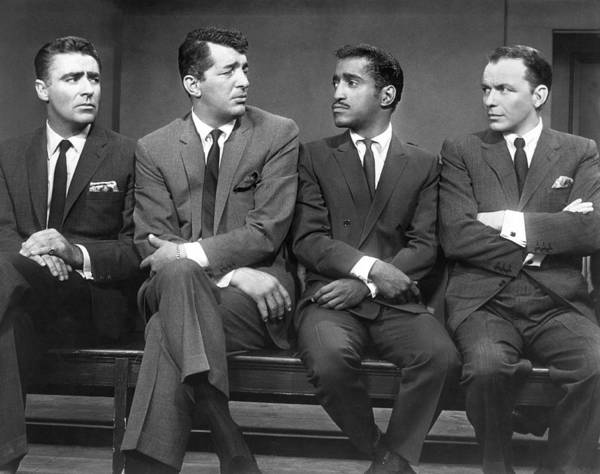 Monochrome Photograph - Ocean's Eleven Rat Pack by Underwood Archives